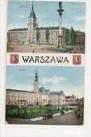 J-210 Warszawa Poland Zamek Ratusz Early Postcard - Postcards