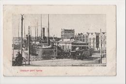 J-243 Sydney Australia Circular Quay 1907 Postcard Harbor Scene - Other