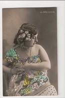 J-274 Lo Nina Bonito Beautiful Woman Actress Spain Tinted Real Photo Postcard - Famous People