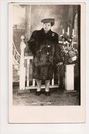 J-296 African American Black Woman In Big Fur Coat Real Photo Postcard - Famous People