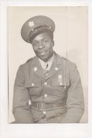 J-298 African American Black Soldier In Uniform Vintage Photo Ross Studio Texas - Famous People