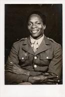 J-299 African American Black Soldier In Uniform Vintage Photo Ross Studio Texas - Famous People