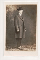 J-370 Dapper Young Man In Hat And Coat Nice Shoes Real Photo Postcard - Famous People