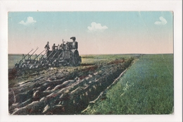 J-645 Farming Plowing Early Postcard Steam Engine Tractor - Other