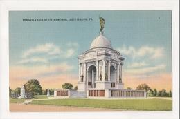 J-717 Gettysburg Pennsylvania State Memorial Vintage Linen Postcard - United States