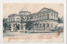 J-873 Singapore Raffels Museum And Library Early Postcard UDB - Postcards