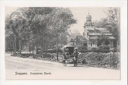 J-874 Singapore Presbytarian Churchearly Postcard Straights Settlement - Postcards