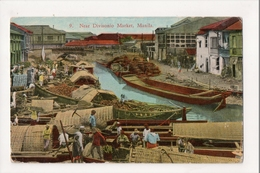 J-877 Manila Philippines Divisonio Market Early Postcard - Postcards