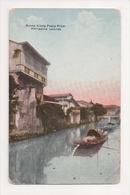 J-881 Scene Along Pasig River Philippines Alimonan Road Early Postcard - Postcards