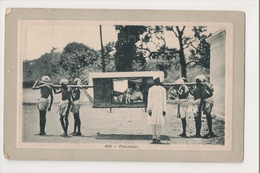 J-888 India Palankeen Man With Dog Early Postcard - Postcards