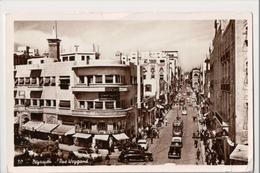 J-895 Beyrouth Beirut Lebanon Liban Weygand Street 1957 Real Photo Postcard - Lebanon