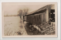 J-900 Heineberg Bridge Vermont Covered Bridge Flood Scene 1927 Real Photo PC - United States