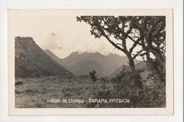 J-984 Panama Volcan De Chiriqui Volcano Real Photo Postcard Flatau - Postcards