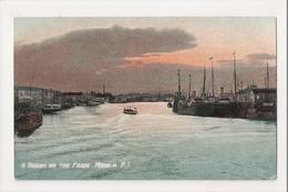 K-006 Manila Philippines Islands Scene On The Pasic Early Postcard - Postcards