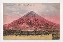 K-007 Luzon Philippines Islands Mayon Volcano Early Postcard - Postcards