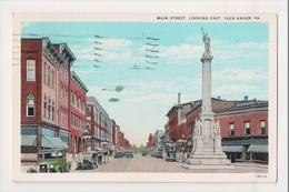 K-148 Lock Haven Pennsylvania Main Street Looking East 1930 Postcard - United States