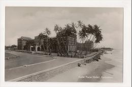 K-186 Colombo Ceylon Sri Lanka Galle Face Hotel Real Photo Postcard - Postcards