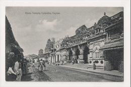 K-185 Colombo Ceylon Sri Lanka Hindu Temple Street Scene Postcard - Postcards