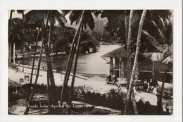 K-187 Colombo Ceylon Sri Lanka Kandy Lake Showing Library Real Photo RPPC - Postcards