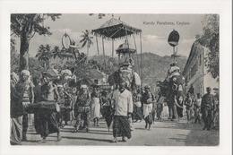 K-188 Colombo Ceylon Sri Lanka Kandy Perahera Parade Street Scene Postcard - Postcards