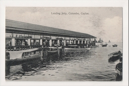 K-192 Colombo Ceylon Sri Lanka Landing Jetty Early Postcard - Postcards