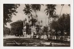 K-195 Colombo Ceylon Sri Lanka Mohammedan Mosque Cinnamon Gardens RPPC - Postcards