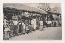 K-194 Colombo Ceylon Sri Lanka Native Shops Market Street Scene Postcard - Postcards