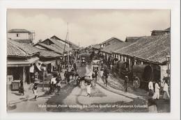 K-209 Colombo Ceylon Main Street Pettah Native Quarter Of Commerce RPPC - Postcards