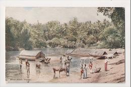 K-216 Ceylon Sri Lanka River Scene Early Postcard - Postcards