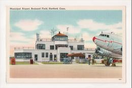 K-383 Hartford Connecticut Municipal Airport Brainard Field Vintage Postcard - Other