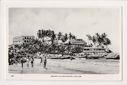 K-479 Ceylon Mount Lavinia Hotel Real Photo Postcard 1960 - Postcards