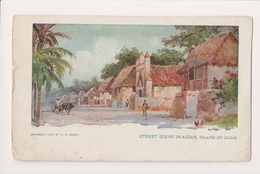 K-477 Guam Island Street Scene In Assan 1904 Hearst UDB Postcard - Postcards