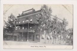 K-538 Albion Pennsylvania Hotel Albion 1911 Postcard - United States