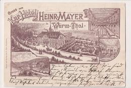 K-557 Gruss Aus Kur-Hotel Heinr-Mayer Wurm Thal Germany 1899 Postcard - Other