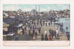 K-611 Constantinople Turkey Le Pont De Galata Early Postcard - Postcards