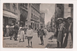 K-649 Gibraltor Waterport Street With Post Office Early Postcard - Gibraltar
