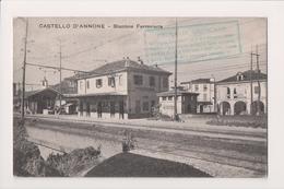 K-692 Castello D'Annone Italy Stazione Ferroviaria 1929 Postcard - Other