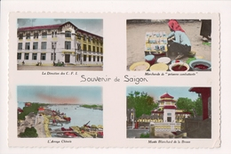 K-749 Saigon Vietnam Handcolored Multiview Real Photo Postcard - Postcards