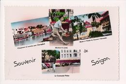 K-751 Saigon Vietnam Handcolored Multiview Real Photo Postcard - Postcards