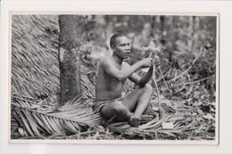 "K-829 Philippines Islands A ""Sakai"" Man Real Photo Postcard - Postcards"