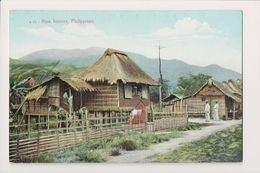 K-828 Philippines Islands Nipa Houses Early Postcard - Other
