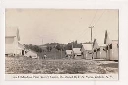 K-895 Lake O'Meadows Near Warren Pennsylvania Nichols NY Real Photo RPPC - United States
