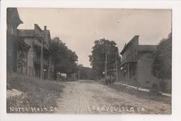 K-897 Le Raysville Pennsylvania North Main Street 1912 Real Photo Postcard - United States