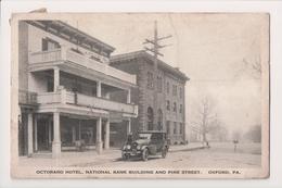 K-931 Oxford Pennsylvania Octoraro Hotel Pine Street 1921 Postcard - United States