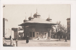 K-990 Constantinople Turkey Postcard Fontaine De Sultan Achmet Real Photo - Postcards