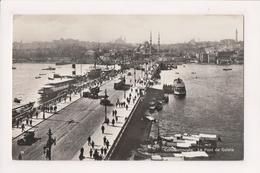 K-991 Constantinople Turkey Postcard Le Pont Galata Real Photo - Postcards