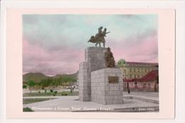 L-006 Cuenea Ecuador Monomento A Crespo Toral Handcolored Real Photo - Postcards