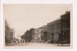 L-223 St Helena Island Jamestown Main Street View Real Photo Postcard - Postcards