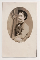 L-227 Dapper Young Man With Hat And Glasses Smoking Cigarette Real Photo RPPC - Famous People