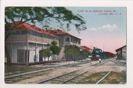 L-311 Corinto Nicaragua Central America Calle De La Estacion Puerto PC - Postcards